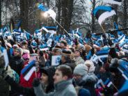 STORT FOTOGALLERI! Republiken Estland 100 år – flagghissning i Tallinn