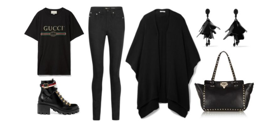 LUXURY shopping – Helsvarta fritidskläder (Look #5)
