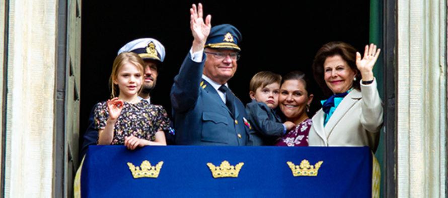 Sverige: Kungens 73-årsdag firades på Kungliga slottet + VIDEO