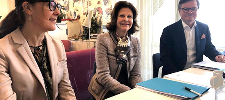 Sverige: Drottningen i möten med World Childhood Foundation och Mentor