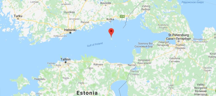 Ryssland byggde ett stort militärt helikopterfält på Hogland (Suursaari)