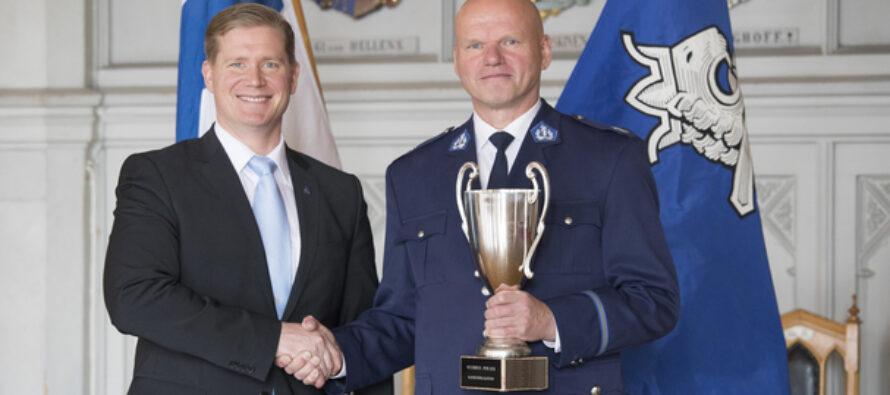 ÄLDRE KONSTAPEL Vesa Jauhiainen från sydvästra Finlands polisinrättning har utnämnts till Årets Polis 2019