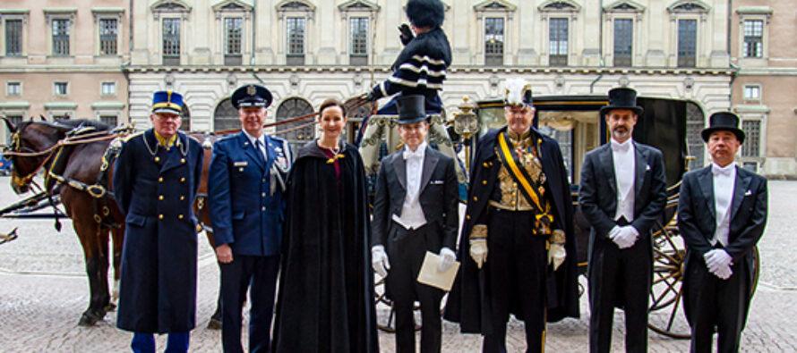 Sverige: Kungen tog emot utländska ambassadörer