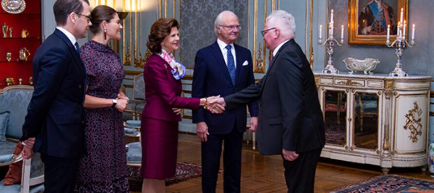 Sverige: Diplomatmottagning på Kungliga slottet